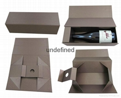 wholesale custom collapsable paper wine bottle box