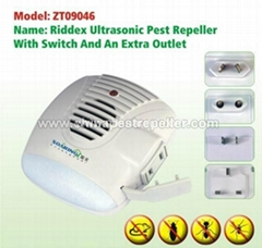 Home Sentinel Riddex Ultrasonic Pest Repeller with Switch And an extra outlet An