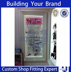Branded Accessories Hanging Display Stands with Rubber Castor