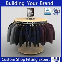 Retail Store Round Rotating Garment Display Rack