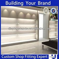 Customized Modern Clothing Shop Wall Display Rack