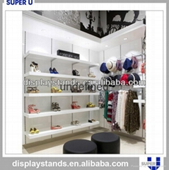 Retail Wall Wood Display Shelf Shoes Store Furniture