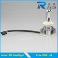 2014 high power led headlight h3 auto