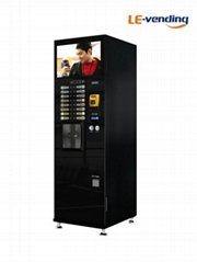 Coin operated touch button coffee vending machin with 22 inch LCD advertising sc