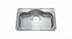Stainless Steel Kitchen sink single bowl HJIS850