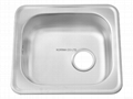 Stainless Steel Kitchen sink single bowl ISS480 1
