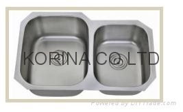 Stainless Steel Kitchen sink double bowls  A-2 1