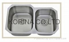 Stainless Steel Kitchen sink double bowls  A-2