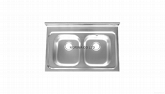 Stainless Steel Kitchen sink double bowls SD900
