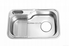 Stainless Steel Kitchen sink single bowl JIS840