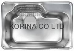 Stainless Steel Kitchen sink single bowl JIS750