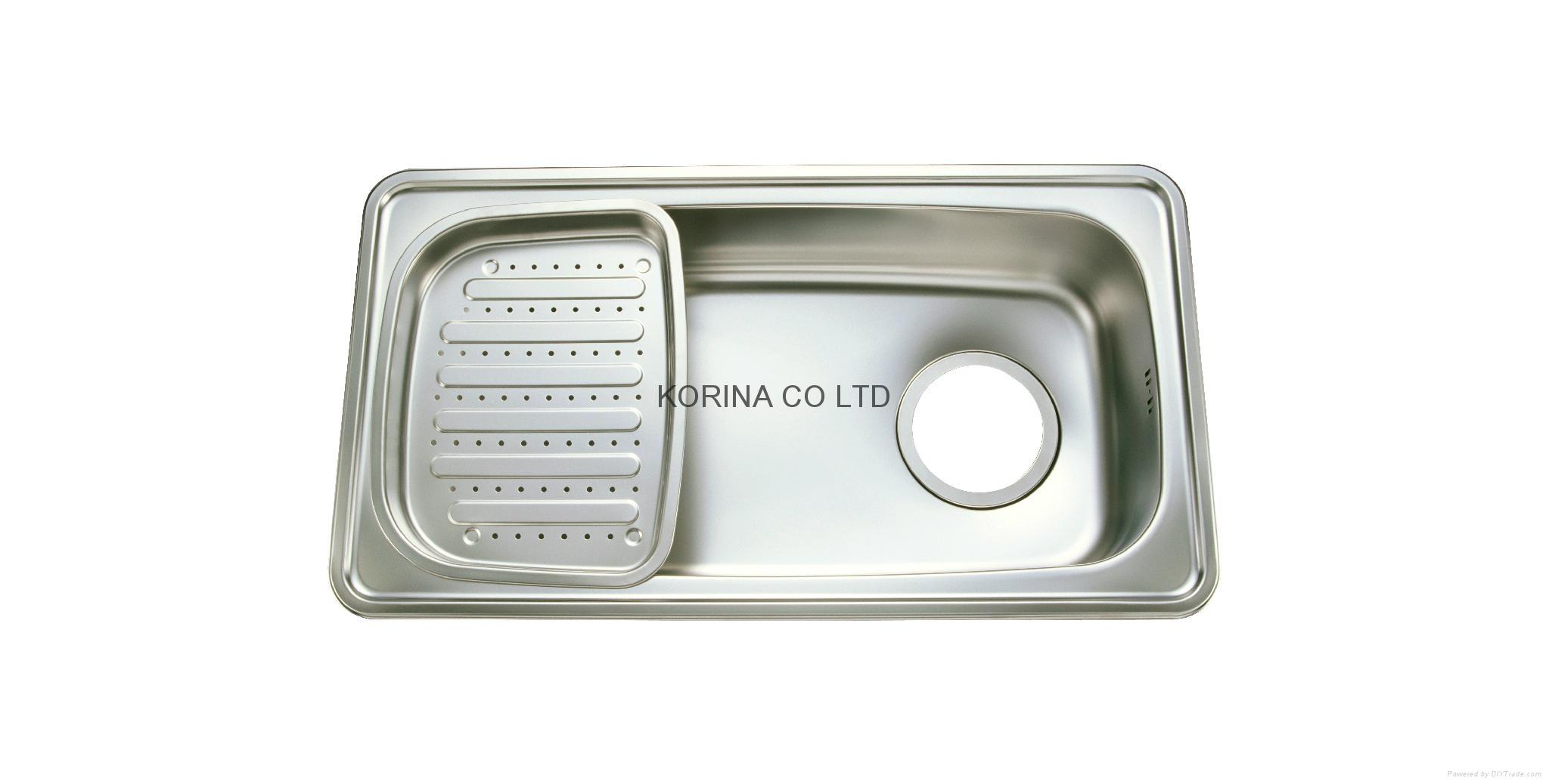 Stainless Steel Kitchen sink single bowl single drain JIS870 1