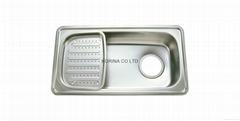 Stainless Steel Kitchen sink single bowl single drain JIS870