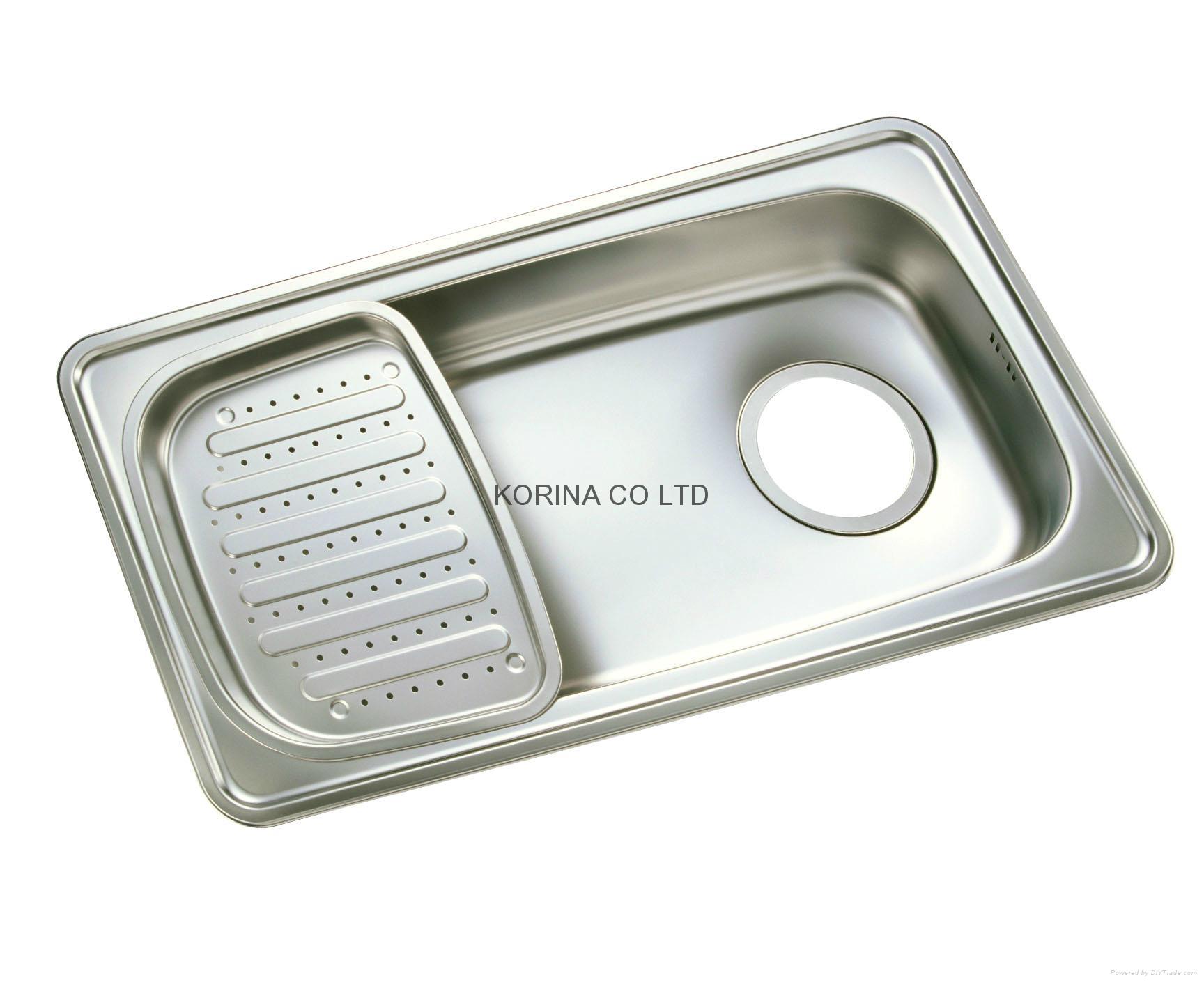 Stainless Steel Kitchen sink single bowl single drain JIS870 2
