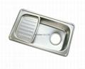 Stainless Steel Kitchen sink single bowl single drain JIS870 3