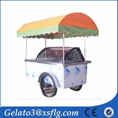 air cooling ice cream cart gelato cart for sale