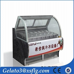 B22 Display machine gelato showcase ice maker machine
