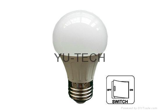 E27開關調光LED球泡燈LED燈泡9W 12W 200-240VAC 6