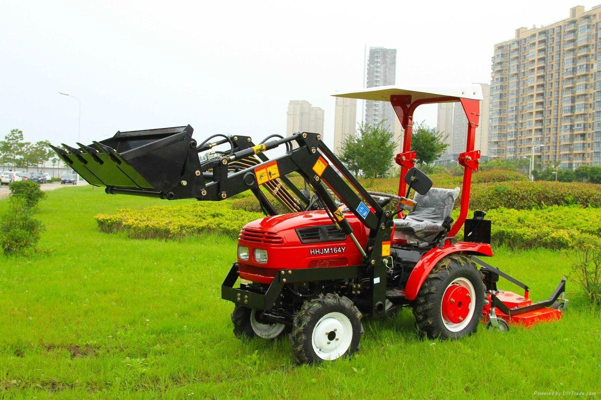 Small garden tractor jinma 164y with front loader jinma oem china manufacturer farm for Small garden tractors with front end loaders