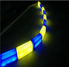 LED light curb blocks yellow