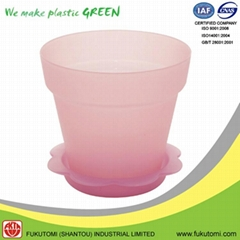 102mm / 4 inch indoor Frost clear color plastic flowerpot decorations