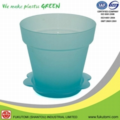 152mm / 6 inch indoor Transparent color plastic flower or Plant pot decorations