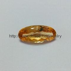 Natural Gemstone Citrine cutting