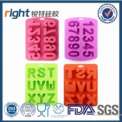 Letters and numbers silicone ice cube tray ,ice maker