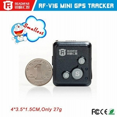 SOS emergency call two way communication mini gps tracker with GSM card with lon