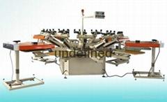 Semi automatic carousel textile screen printing machine