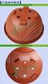 360紅色塑料吊蘭花盆 4