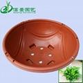 360红色塑料吊兰花盆