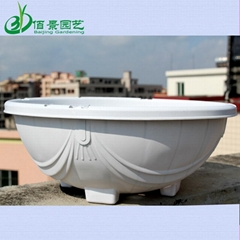360白色塑料花盆吊蘭綠蘿種植盆