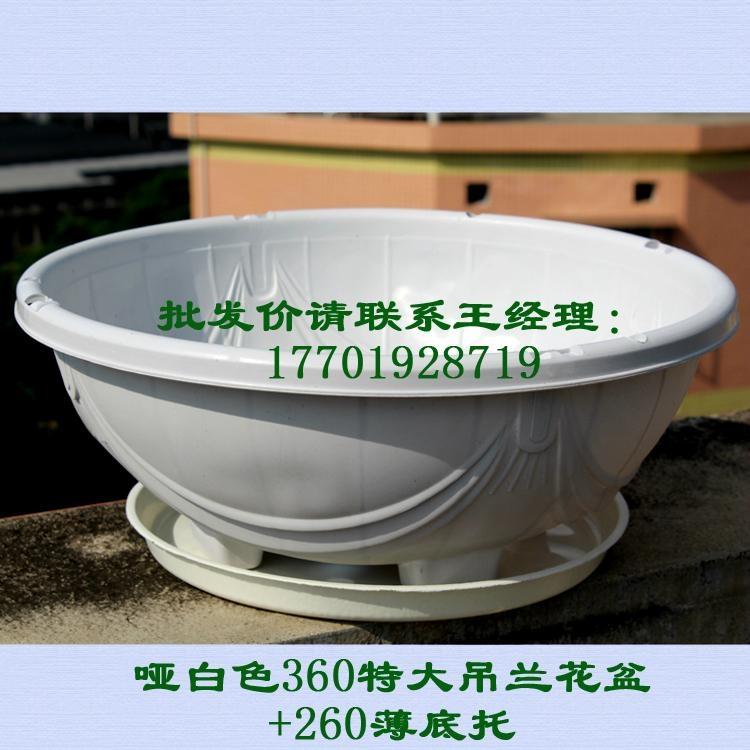 360白色塑料花盆吊蘭綠蘿種植盆 2