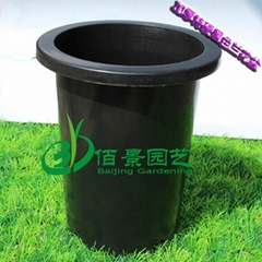 Black plastic flower pot for Orchid