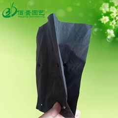 Black plastic PE planting bag