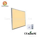 LED dimmable panel color and brightness