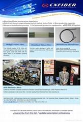 High precision optical processing - fiber with lens