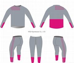 Pink women Full sleeve running wears 2015 bodybuilding wear slim fit running wea