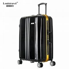 Louistravel拉杆箱萬向輪鋁框行李箱定做旅行箱批發