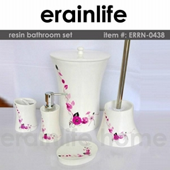 polyresin bath accessories collection