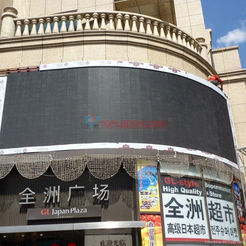 Popular cheap p10 DIP outdoot advertising big video wall led
