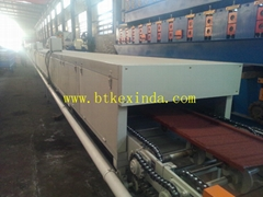 stone coated roof tile machine prodution line