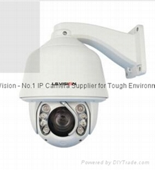 "LS Vision 5"" High Speed Dome 1.3MP 20X Zoom Lens IR IP PTZ Security Camera Outdo"