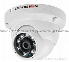 "LS VISION 1/2.9"" Progressive Scan CMOS 2MP Fixed Lens P2P IR Vandalproof Dome IP"