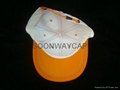 6 panel cotton baseball cap with strap metal buckcle closure