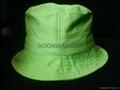 cheap cotton plain green bucket hat--USD0.88