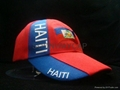 high quality acrylic hat with country flag embroidery