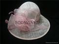 elegant sinamay church hat