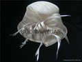 top quality lady sinamay organza church hat